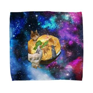 space catとなかまたち Towel handkerchiefs