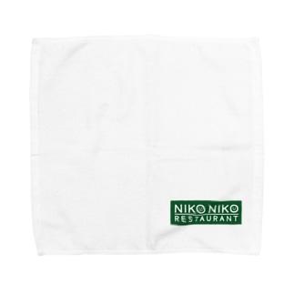 nikonikoロゴグリーン Towel Handkerchief