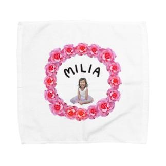 MILIA(rose) タオルハンカチ
