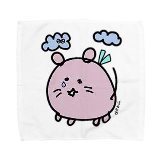 """かなしみのデグー""""いつも一緒にいたいから"""" Towel handkerchiefs"""