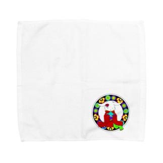 うさぎと手毬 Towel handkerchiefs