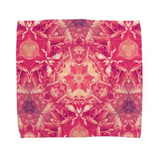 ピンクカーネーション Towel handkerchiefs
