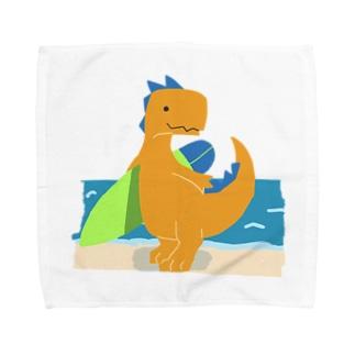 サーフィンを楽しんだかいじゅう Towel handkerchiefs