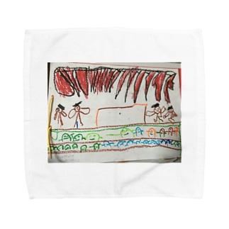 発表会(秀斗のお絵描き) Towel handkerchiefs