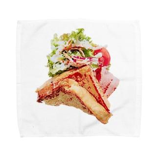 朝食はトースト派 タオルハンカチ