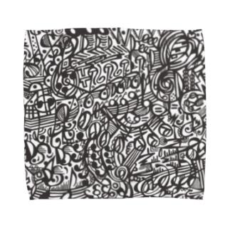 楽譜柄 Towel handkerchiefs