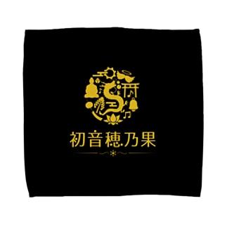 初音穂乃果のロゴ(黒ver) Towel handkerchiefs