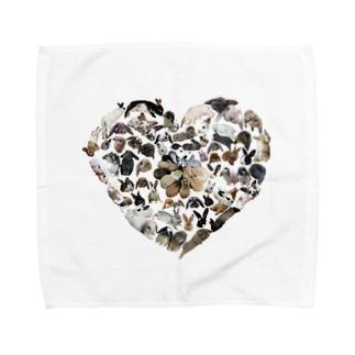 うさぎオブハート Towel handkerchiefs