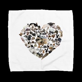うさかふぇmimiSHOPのうさぎオブハート Towel handkerchiefs