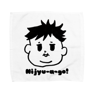 Nijyu-a -go!多毛boy Towel handkerchiefs