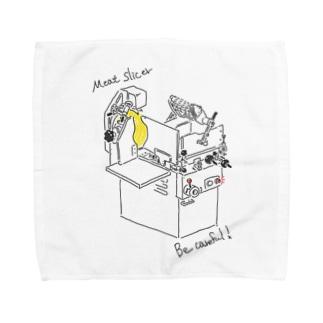 肉屋さん感がにじみ出るヤツ Towel handkerchiefs