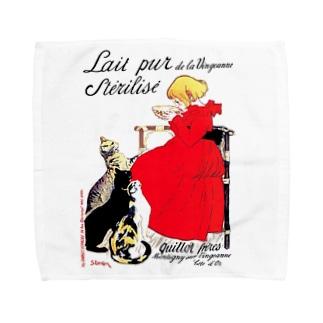スタンラン『 ヴァンジャンヌの殺菌牛乳のポスター 』 Towel handkerchiefs