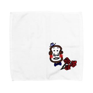 紳士なおサルです Towel handkerchiefs