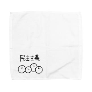 民主主義な白玉ちゃんず Towel handkerchiefs