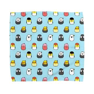 鳥まみれ Towel handkerchiefs