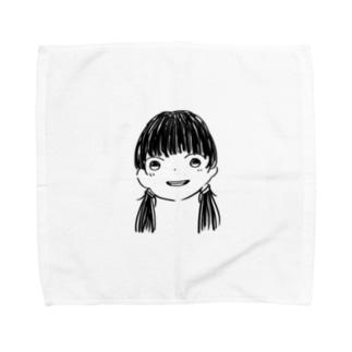 黒髪Girl Towel handkerchiefs