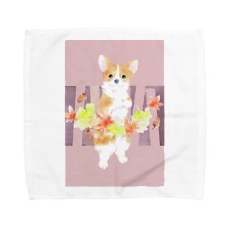 紅葉狩りー木立 Towel handkerchiefs