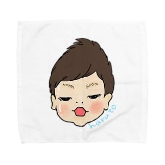 haruto 似顔絵 Towel handkerchiefs