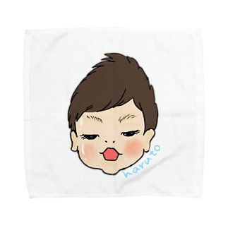 iccaのharuto 似顔絵 Towel handkerchiefs