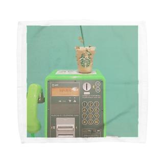 バックスと公衆電話 Towel handkerchiefs