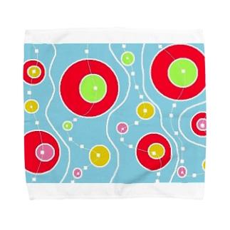 マジョの浮き輪 Towel handkerchiefs