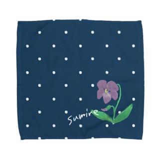 ちいさい花 スミレ Towel handkerchiefs