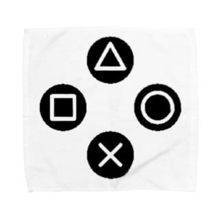 三角、四角、丸、バツ Towel handkerchiefs