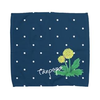 ちいさい花 タンポポ Towel handkerchiefs