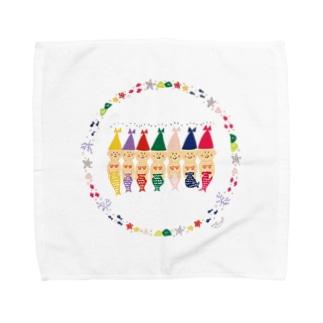 こびと人魚 Towel handkerchiefs
