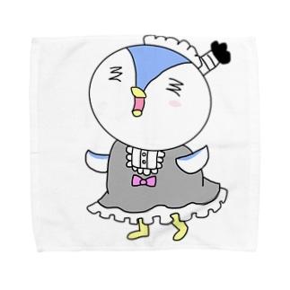 ペンギン侍のメイド姿 Towel handkerchiefs
