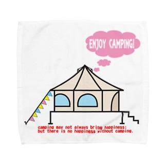 エンジョイキャンプテント茸 Towel handkerchiefs