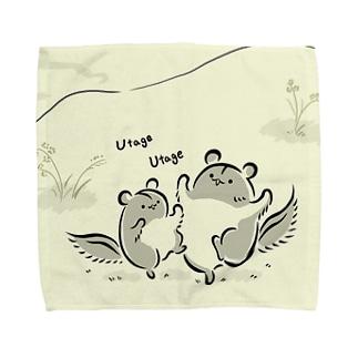 ももんがもん(墨)~宴の舞~ Towel handkerchiefs