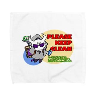 悪魔めさのゴミ共一掃プロジェクトアイテム Towel handkerchiefs