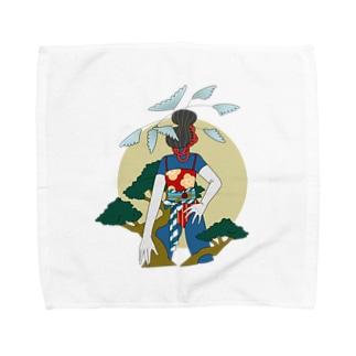 お正月 Towel handkerchiefs