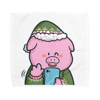 ぶたさん Towel handkerchiefs