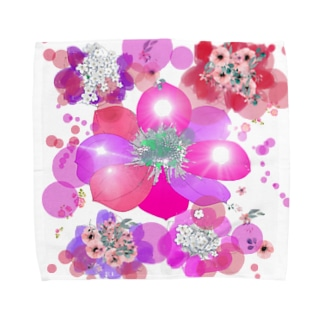 キラキラ花まつり Towel handkerchiefs
