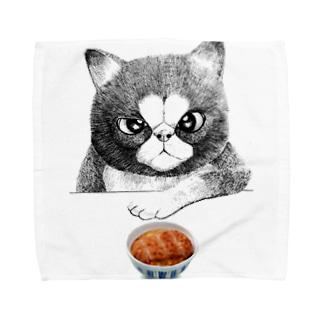 カツ丼食うか? Towel handkerchiefs