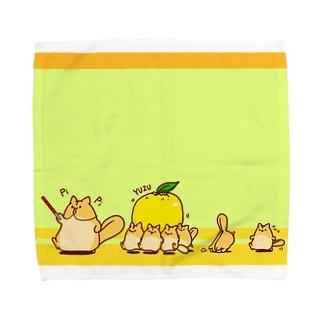 ももんがもん(柚子) Towel handkerchiefs