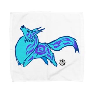 青い幻獣 Towel handkerchiefs