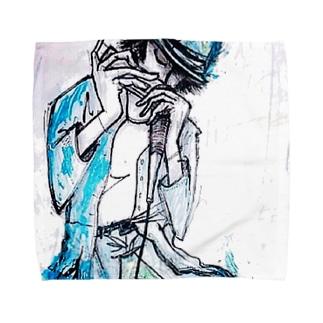 ブルースハープの音色に誘われて Towel handkerchiefs