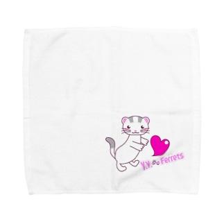 Y.Y.Ferretsオリジナルイラスト Towel handkerchiefs