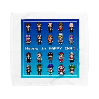 Happy in  HAPPY INNドットキャラ(集合) Towel handkerchiefs