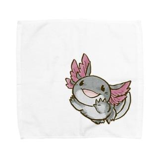ブラックウーパールーパー Towel handkerchiefs