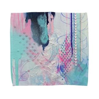 タオルハンカチ(サイズあり)*全部つながって、今キミがここにいる。 Towel handkerchiefs
