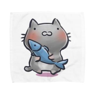 猫と魚 Towel handkerchiefs