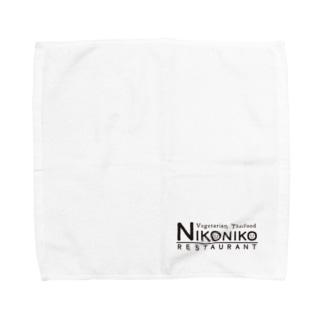 nikonikoロゴ(ブラック) Towel Handkerchief