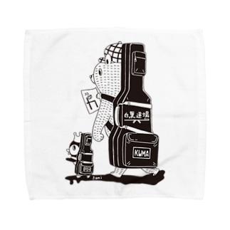 白黒道場-バンド(絵柄小) タオルハンカチ