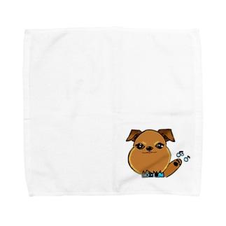 蘭丸goods(ブリュッセルグリフォン) Towel handkerchiefs