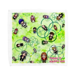 ハッピーイン・ドットキャラ(クローバー) Towel handkerchiefs