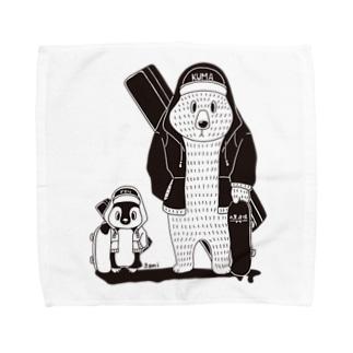 白黒道場-バンド正面(絵柄小) Towel handkerchiefs